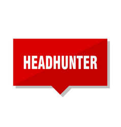 Headhunter red tag vector