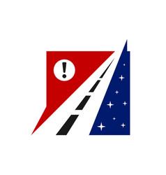 Highway emblem logo design vector