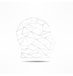 Human face profile silhouette isolated 3d mans vector
