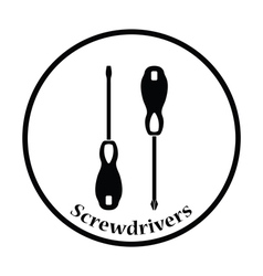 Icon of screwdriver vector image