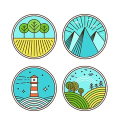 icons and logo design elements vector image