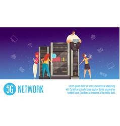 internet technology horizontal banner vector image