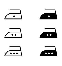 Iron collection flat icon isolated on white vector