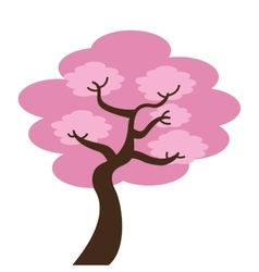 Japanese tree isolated icon design vector