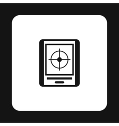 JPS navigator icon simple style vector image
