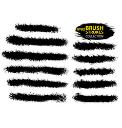 large set different grunge brush strokes vector image