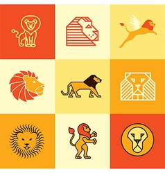Leo logo icons vector