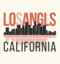 los angeles graphic t-shirt design tee print vector image