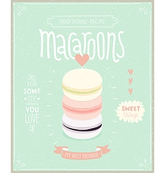 Macaroons Poster vector image