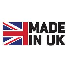 Made in britain united kingdom uk logo vector