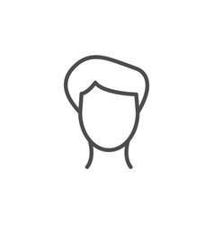 male line icon vector image