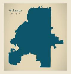 Modern city map - atlanta georgia city of the usa vector
