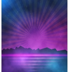 Neon Style Background 1980 Neon Poster vector