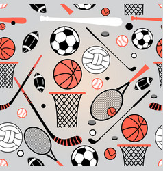 pattern sporting goods vector image