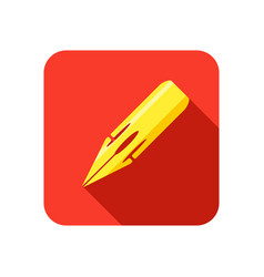 pen nib icon vector image