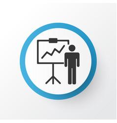 personal presentation icon symbol premium quality vector image