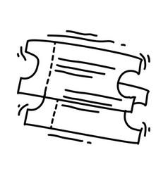 playground kids ticket vector image
