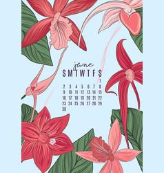 printable a4 size 2019 calendar template vector image