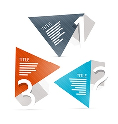 Progress steps for tutorial infographics vector