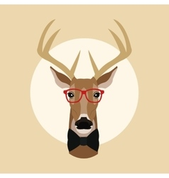 Reindeer animal hipster style vector image