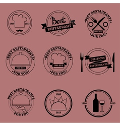 Restaurant set vector