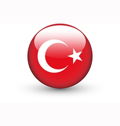 Round icon with national flag of Turkey vector