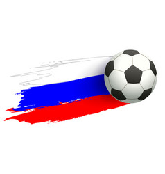 Russia soccer championship 2018 soccer ball vector