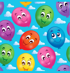 seamless background with balloons 3 vector image