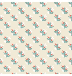Seamless vintage pattern with colorful flowers vector image