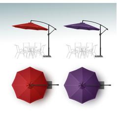 Set of Beach Cafe Bar Pub Umbrella Parasol vector