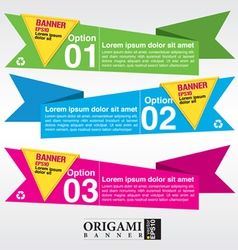 Set of origami paper banners EPS 10 vector