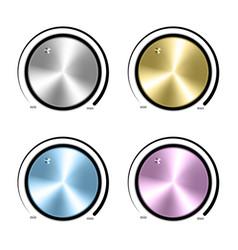 Set realistic control music knob volume vector