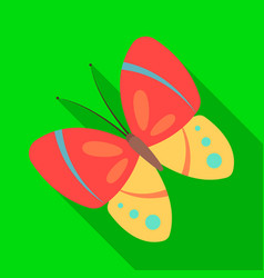 spring butterfly easter single icon in flat style vector image