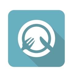 Square tableware icon vector image