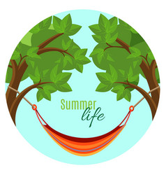 Summer life with hammock vector