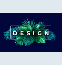 summer tropical design for banner or flyer with vector image