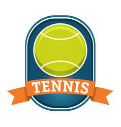 Tennis ball logo label in flat styletennis vector