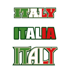 Text symbol and icon of italy vector