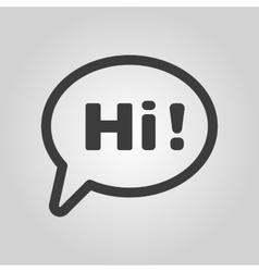 The hi icon Greet and hello symbol Flat vector