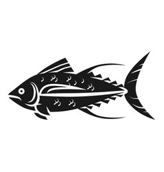 tuna icon simple style vector image