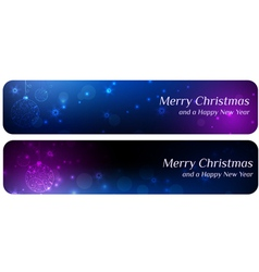 two banners christmas vector image