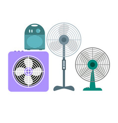 Ventilation devices set vector