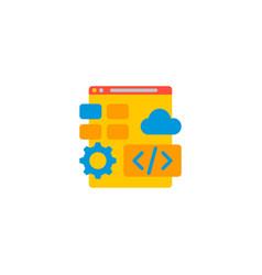 web development icon flat element vector image