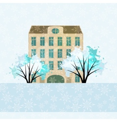 Winter house vector image vector image