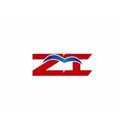 ZI company linked letter logo vector image