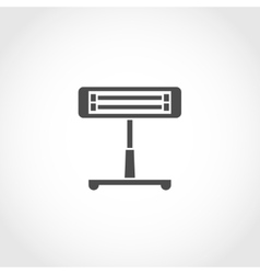 Infrared heater icon vector image