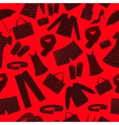 Mens and womens wear shapes background vector