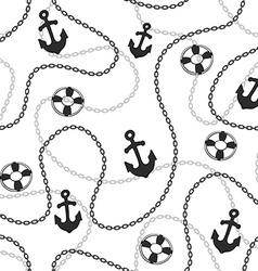 Seamless marine background vector image vector image
