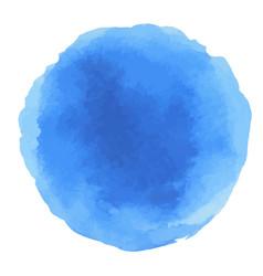 Abstract watercolor blue dots vector
