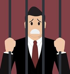 Businessman in prison vector image